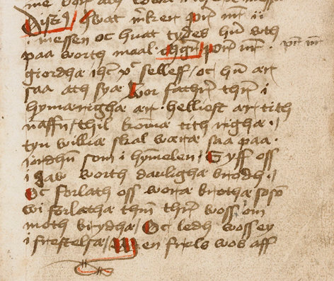 The oldest preserved copy of the Lord's Prayer in Danish