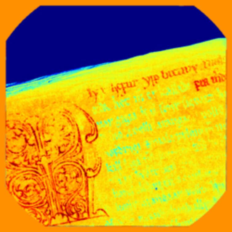 Multispectral image of AM 468 fol.