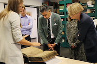 A visit from the Norwegian minister