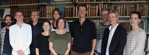 Employees together with Prince Joachim
